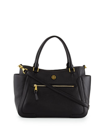 Frances Satchel Bag, Black