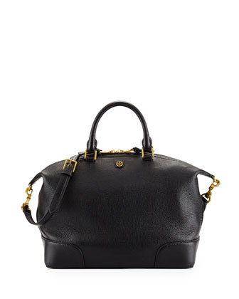 Frances Medium Slouchy Satchel Bag, Black