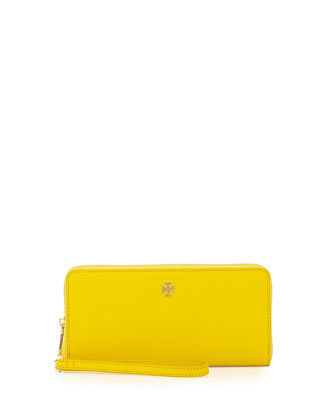 York Zip-Around Passport Continental Wallet, Sunshine