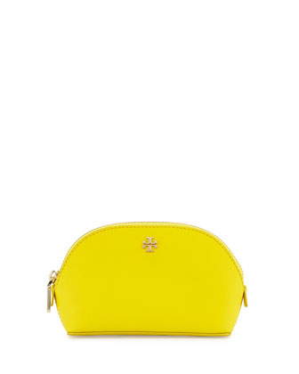 York Small Saffiano Makeup Bag, Sunshine