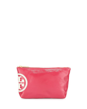 Dipped Beach Small Slouchy Cosmetic Case, Island Pink