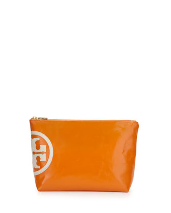 Dipped Beach Large Cosmetic Bag, Mandarin Orange