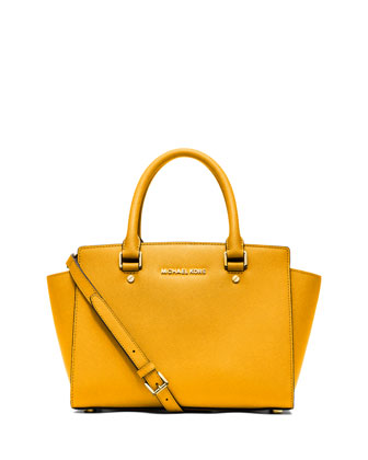 Selma Medium Top-Zip Satchel Bag, Sun