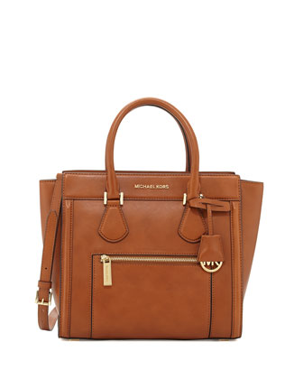 Colette Large Zip-Top Satchel, Luggage