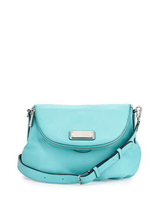 New Q Natasha Mini Crossbody Bag, Sea Aqua