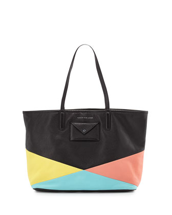 Metropolitote Geometric Tote Bag, Black Multi