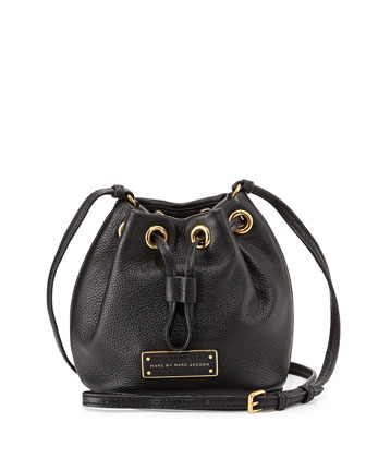 Too Hot to Handle Mini Drawstring Crossbody Bag, Black