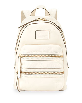 Domo Biker Leather Backpack, Leche