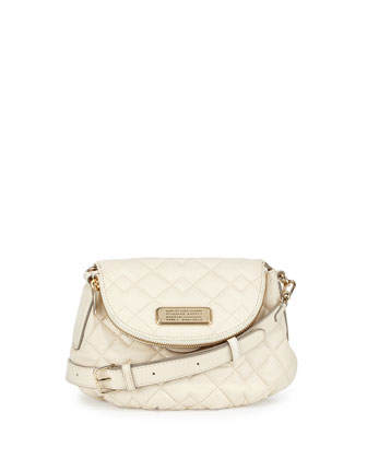 New Q Natasha Quilted Crossbody Bag, Leche