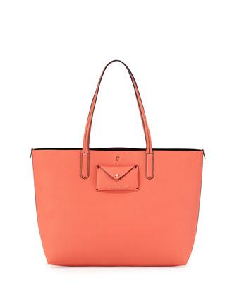 Metropolitote Saffiano Tote Bag, Spring Peach