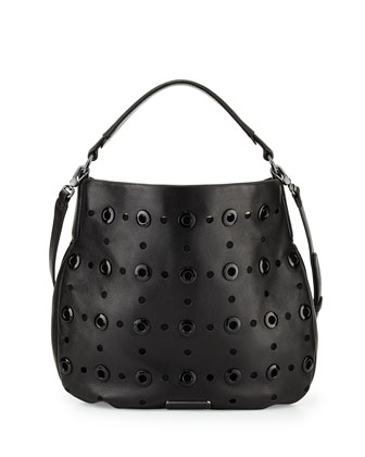 New Q Grommet Hillier Hobo, Black