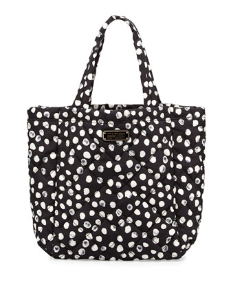 Crosby Quilted Tote Bag, Black Multi