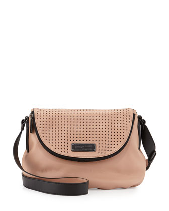 New Q Natasha Perfrorated Crossbody Bag, Dark Buff