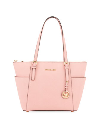 Jet Set Saffiano Tote Bag, Pale Pink