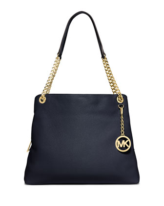 Jet Set Large Chain Shoulder Tote Bag, Navy