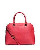 Cindy Large Dome Satchel Bag, Watermelon