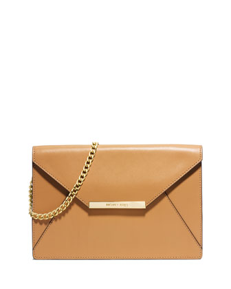 Lana Envelope Clutch Bag, Peanut