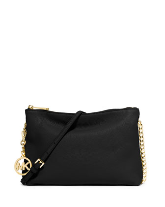 Jet Set Chain Messenger Bag, Black