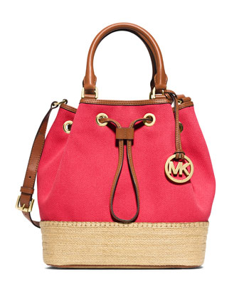 Marina Large Espadrille Shoulder Bag, Watermelon