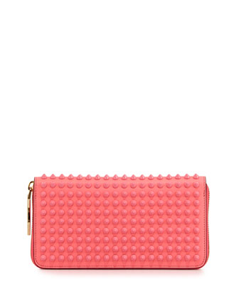 Panettone Spiked Zip Wallet, Light Pink