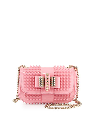 Sweet Charity Small Spiked Crossbody Bag, Light Pink