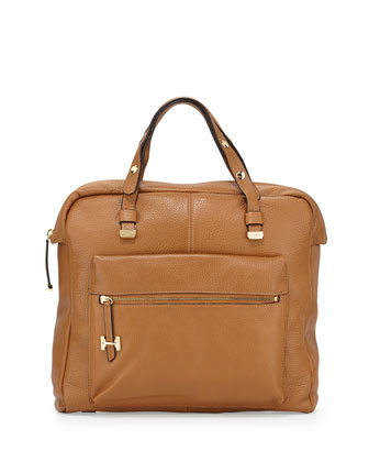 North/South Downtown Tote Bag, Tan