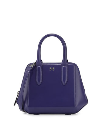 Leather Baby Satchel w/ Handle, Violet