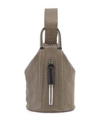 Aston Leather Sling Backpack, Smoke