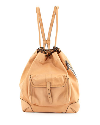Grayson Leather Backpack, Nougat