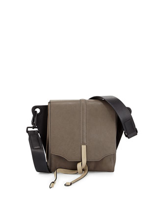 Aston Convertible Leather Bag, Smoke