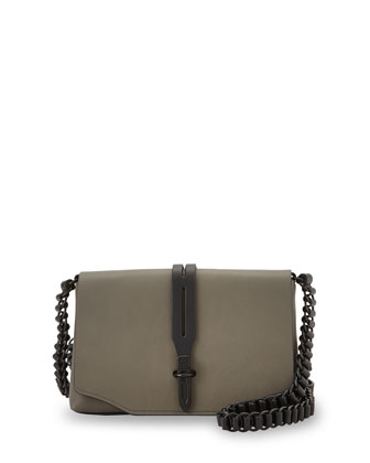 Enfield Mini Leather Shoulder Bag, Smoke