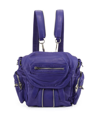 Mini Marti Washed Lambskin Backpack, Swim