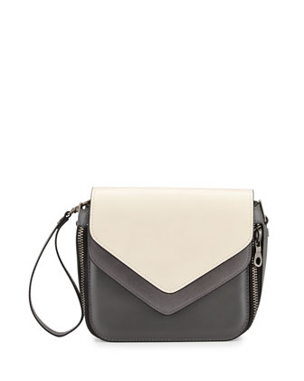 Fillipo Small Crossbody Clutch Bag, Elephant/Ivory