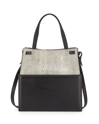 Buddy Leather & Snakeskin Tote Bag