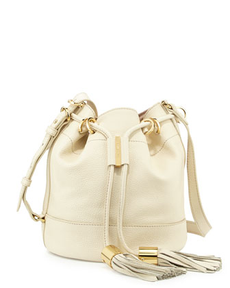 Vicki Vachetta Bucket Bag, Milk
