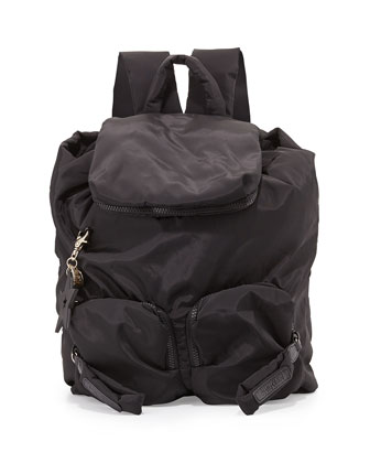 Joy Rider Nylon Backpack, Black