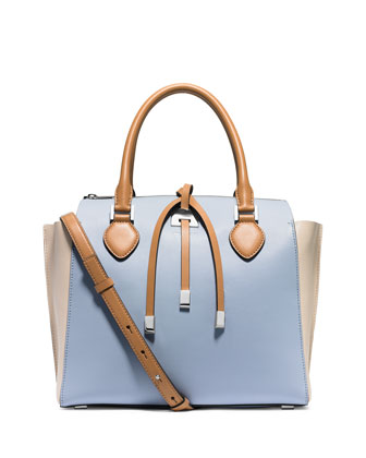 Miranda Large Colorblock Tote Bag, Sky Multi