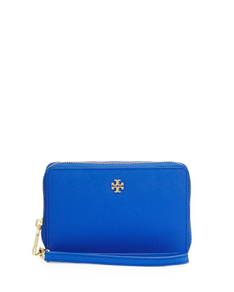 York Smartphone Wristlet Wallet, Jelly Blue