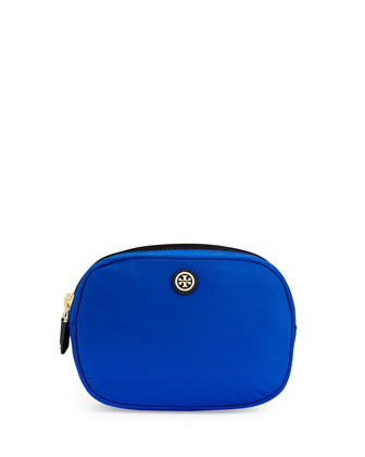 Double Zip Cosmetic Bag, Jelly Blue