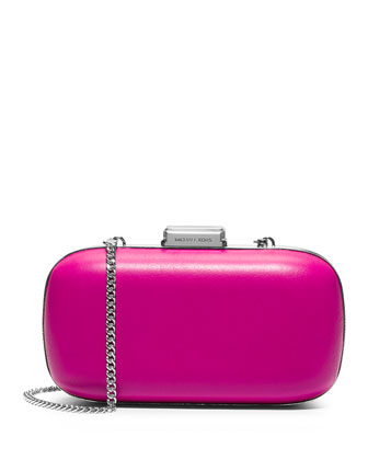 Elise Dome Hard-Shell Clutch Bag, Fuchsia