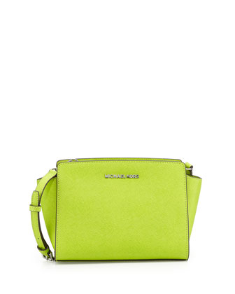 Selma Medium Messenger Bag, Pear