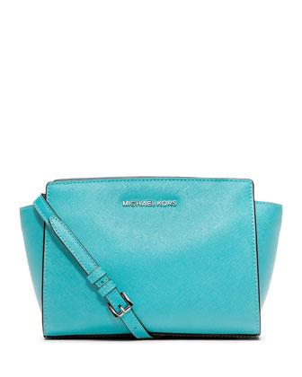Selma Medium Messenger Bag, Aquamarine