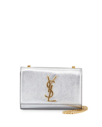Monogram Small Crossbody Bag, Platine Silver