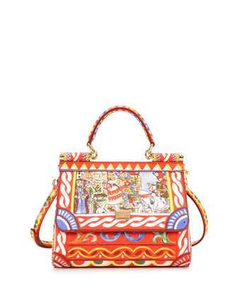 Miss Sicily Printed Satchel Bag