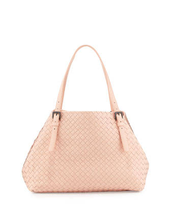 A-Shaped Medium Tote Bag, Flamingo Light Pink