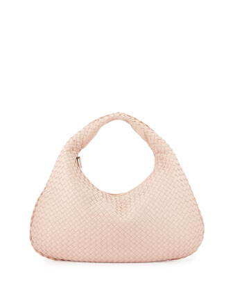 Veneta Large Hobo Bag, Flamingo Light Pink
