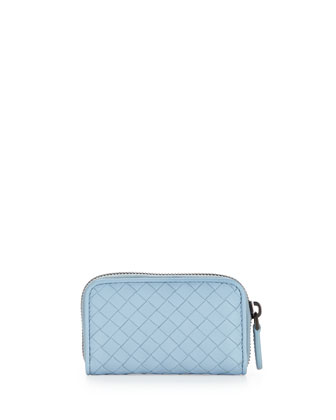 Mini Zip-Around Wallet, Ciel Baby Blue