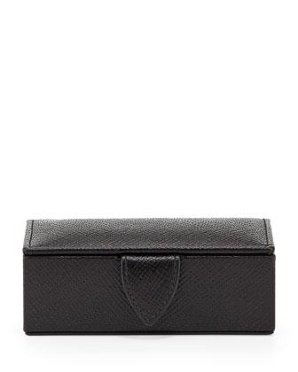 Panama Mini Cuff Link Box, Black