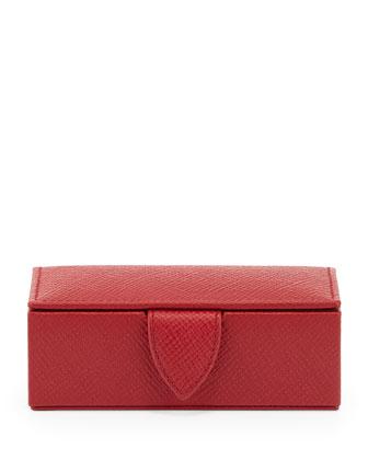 Panama Mini Cuff Link Box, Red