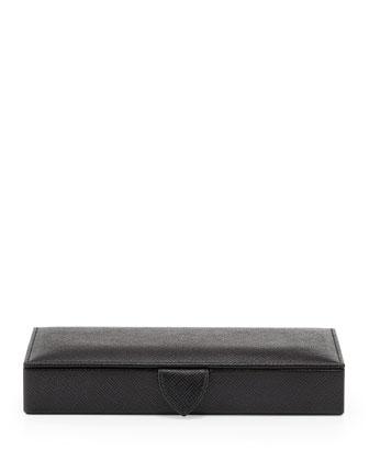 Panama Cuff Link Box, Black